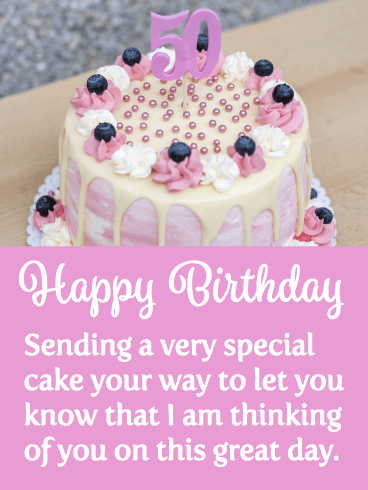 Surprising A Special Cake Happy 50Th Birthday Card Birthday Greeting Funny Birthday Cards Online Inifofree Goldxyz