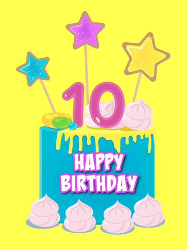 Miraculous An Awesome Cake Happy 10Th Birthday Card Birthday Greeting Personalised Birthday Cards Paralily Jamesorg