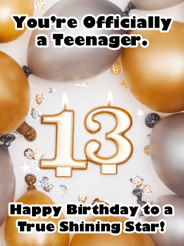 The Best Celebration Ever! Happy 13th Birthday Card