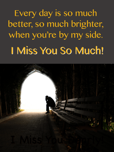 Dark And Lonely-Miss You Card