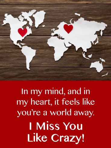 Halfway Around The World-Miss You Card