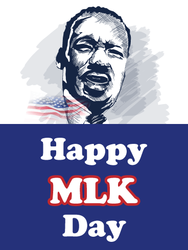 Dr. King Illustrated - Happy MLK Day Card
