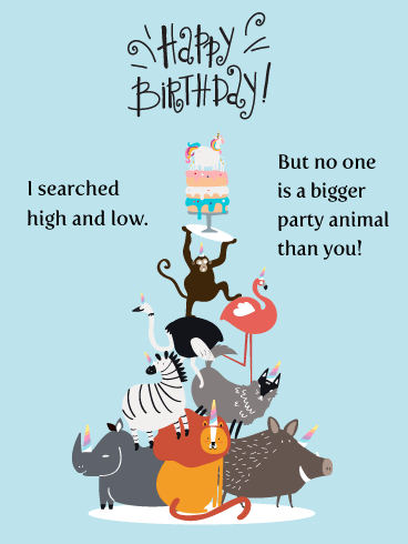 Make Your Day Wild! - Happy Birthday Card