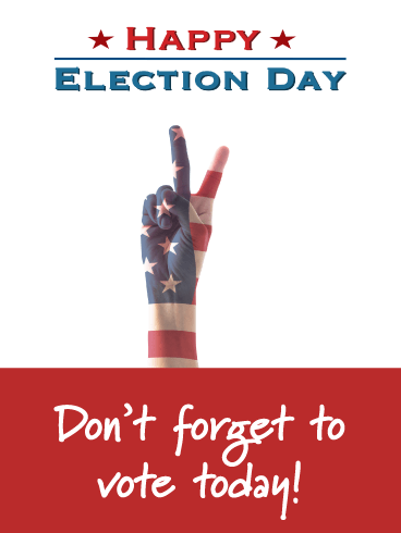 Peace and Voting - National Election Day Card