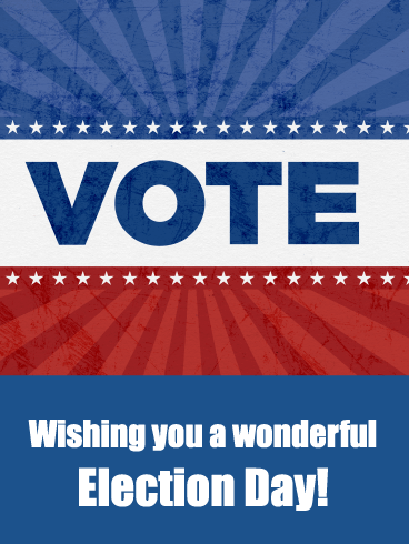 Red, White, & Blue - National Election Day Card