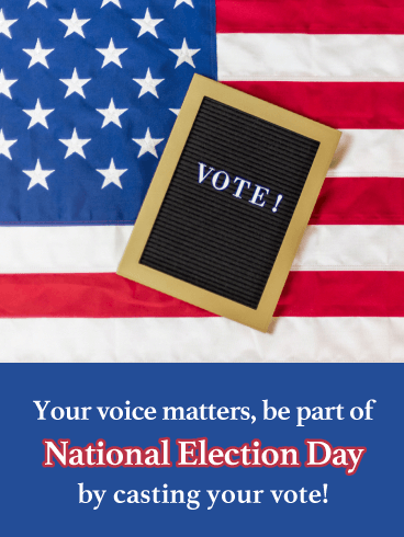 Your Voice Matters - National Election Day Card