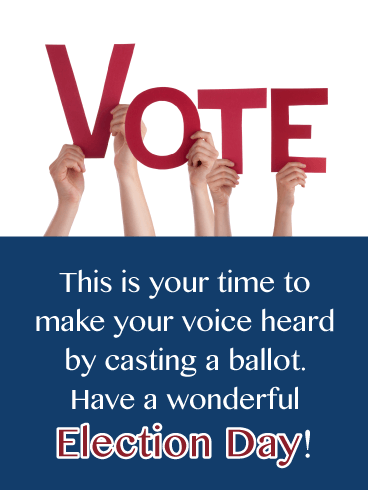 Cast Your Ballot - National Election Day Card