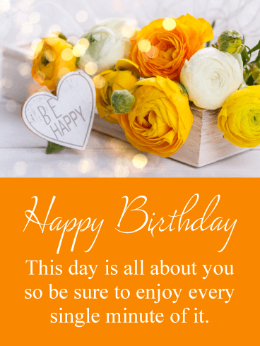 Enjoy Every Minute - Happy Birthday Card