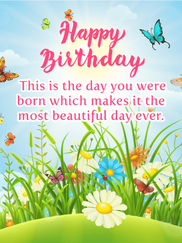Beautiful  Butterflies - Happy Birthday Card