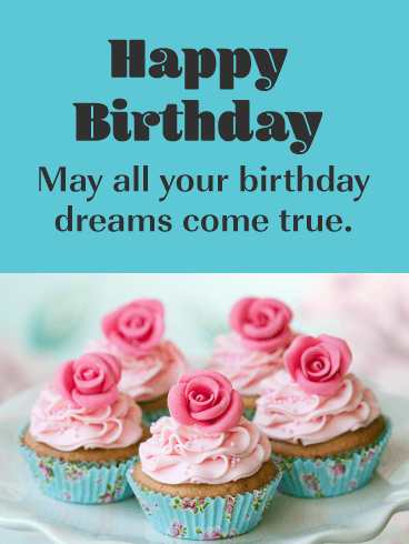 Sweet Cupcakes - Happy Birthday Card