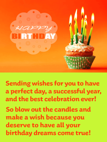Blow Out the Wishing Candles - Happy Birthday Card
