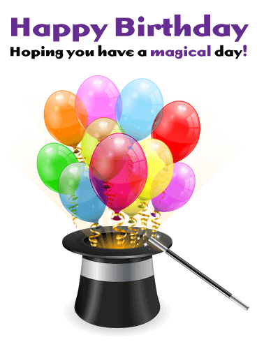 A Magical Day! Happy Birthday Card