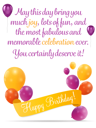 A Fabulous Celebration - Happy Birthday Card