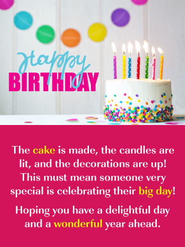 The Perfect Cake! - Happy Birthday Card