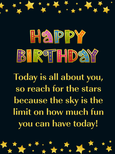 You're the Star Today! - Happy Birthday Card