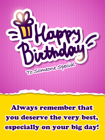 You Deserve the Best - Happy Birthday Card