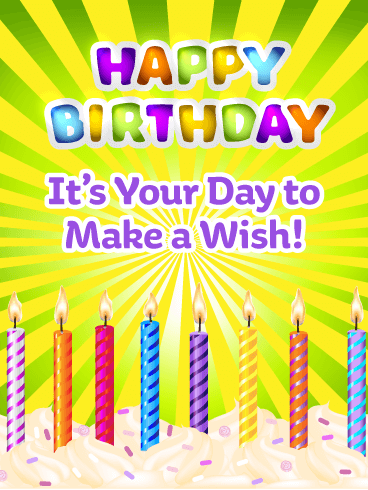 Colorful Celebration Candles – Happy Birthday Card