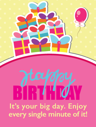 Fun Gift Boxes with Bows – Happy Birthday Card