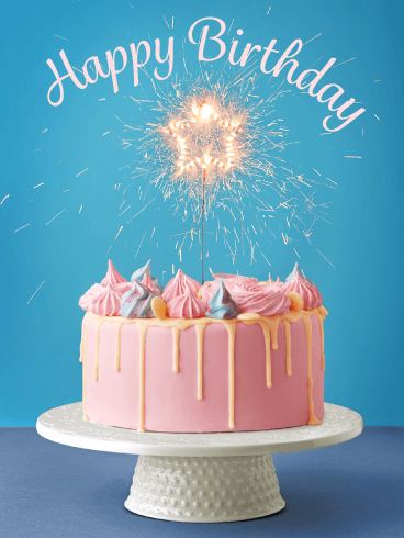 Sparkling Celebration Cake – Happy Birthday Card