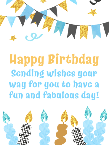 Fun & Fabulous Candles - Happy Birthday Card
