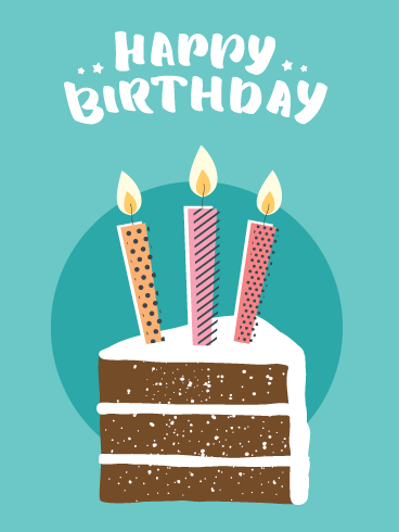 Perfect Cake & Candles – Happy Birthday Card
