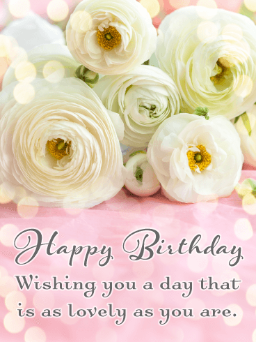 Lovely Flowers for You - Happy Birthday Card