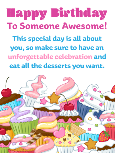 Irresistible Cupcakes – Happy Birthday Card