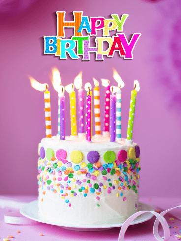 A Perfect Celebration Cake Happy Birthday Card Birthday