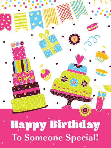 Festive Decorations - Happy Birthday Card