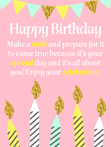 Sparkling Candles – Happy Birthday Card
