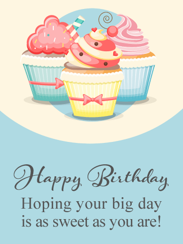 Sweet Cupcakes Celebration – Happy Birthday Card
