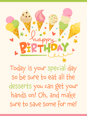 Time for Dessert! Happy Birthday Card
