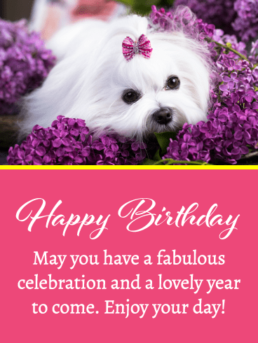 Adorable Sweet Puppy – Happy Birthday Card