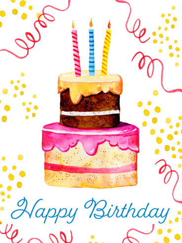 A Fabulous Cake – Happy Birthday Card