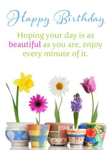 Beautiful As You Are – Happy Birthday Card