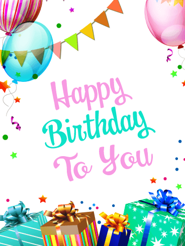 Special Gifts & Balloons – Happy Birthday Card