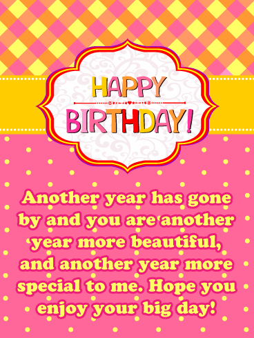 Another Year More Special – Happy Birthday Card