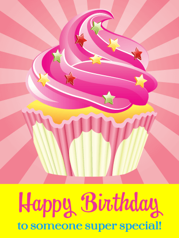 Super Yummy Cupcake – Happy Birthday Card