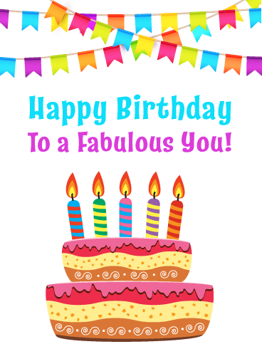 You're Fabulous! Happy Birthday Card