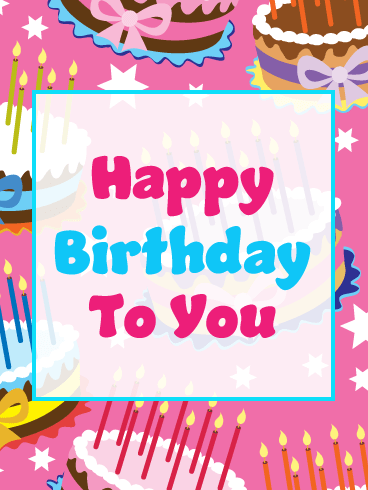 Fancy Celebration Cakes – Happy Birthday Card