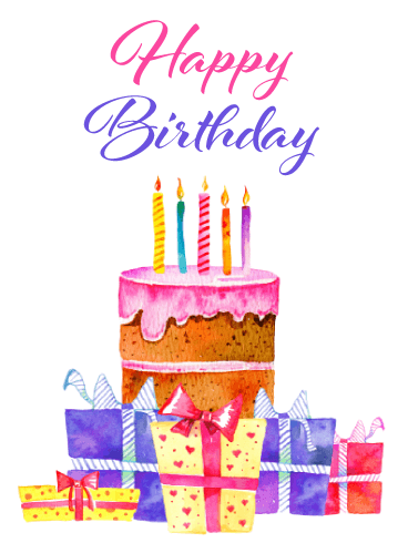 Fabulous Presents & Cake – Happy Birthday Card