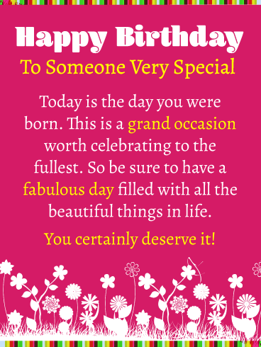 The Fabulous Day You Were Born - Happy Birthday Card