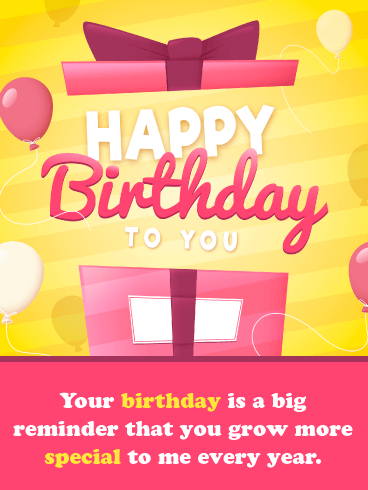 You're Special to Me – Happy Birthday Card