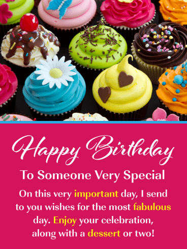 Fancy Cupcakes – Happy Birthday Card