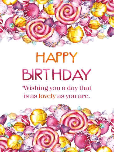 Colorful Candy – Happy Birthday Card