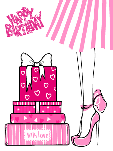 Pretty Presents – Happy Birthday Card