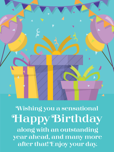 Presents & Balloons for You – Happy Birthday Card