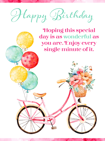 You're Wonderful – Happy Birthday Card
