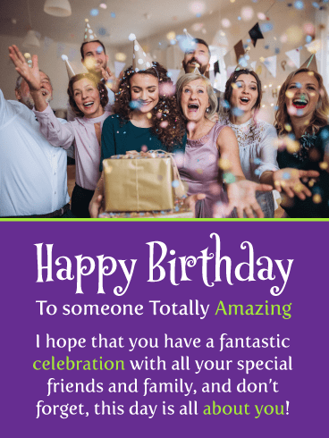 A Big Celebration – Happy Birthday Card
