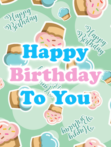 Yummy Cupcakes – Happy Birthday Card